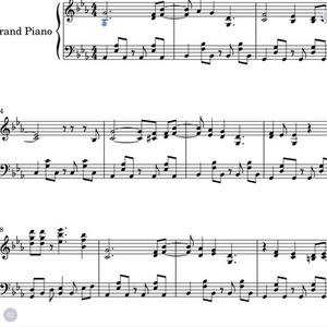 音源からピアノ楽譜お作り致します