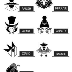 キャラクターのロゴ化