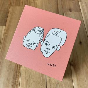 似顔絵をプリントしたキャンバスアートをお届けします