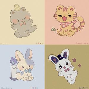 動物のイラスト・SNSアイコン