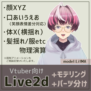 【Vtuber】Live2dモデリング+パーツ分け