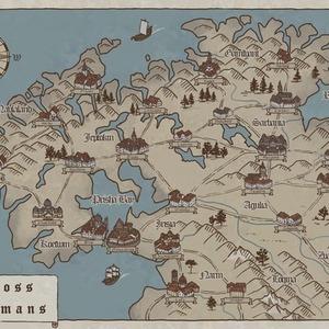 地図制作(架空地図、絵地図、設定資料などなど)