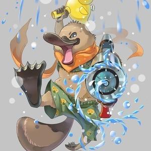 可愛い面白い動物怪獣妖怪商用イラスト