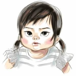 我が子の似顔絵イラストはいかがですか?