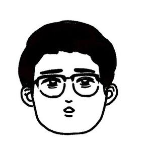 モノクロ似顔絵