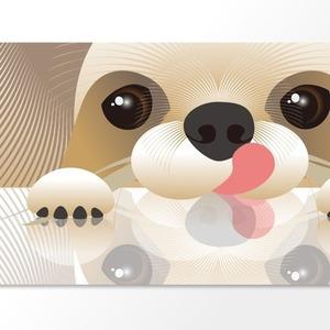 愛犬、愛猫のイラストをお届けします デザイン的なタッチでプレゼントに最適です。