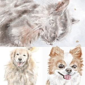【最短4日以内.低価格】動物の水彩画風デジタルイラストを描きます